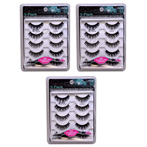 Ardell Fashion (15 PAIRS - Ardell Fashion Lashes- 5 Pairs/Pack 101 Demi - FREE APPLICATOR)