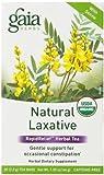Gaia Herbs Natural Laxative RapidRelief Herbal Tea Bags, 20 Count, 2 pack
