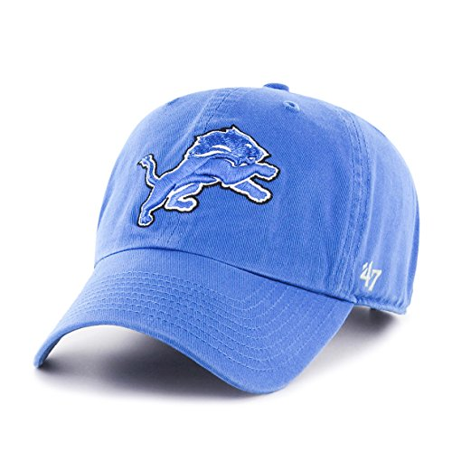 NFL Detroit Lions '47 Clean Up Adjustable Hat, Blue Raz, One Size