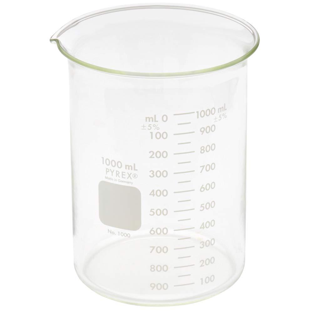 Pyrex 1000-1LCNpk Griffin Low Form 1000 mL Beaker Graduated 6Pk (Pack of 6)