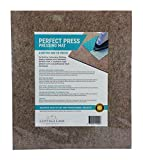 "Quilter's Pressing Mat, Perfect Press Pad, 14""x16""x ½"",Wool Ironing Mat for Quilting Embroidery Stitching Sewing Applique Work Patchwork Garment Work. Crisply Pressed Seams with Professional Results"