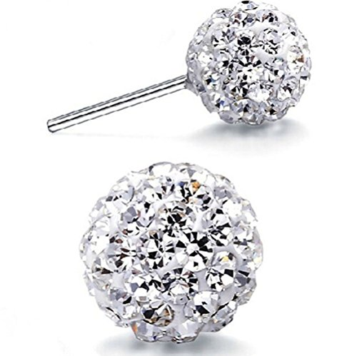 Winter's Secret White 8MM Ball Shape Charming Girls and Women Sexy Stud - Replacement Card Nectar