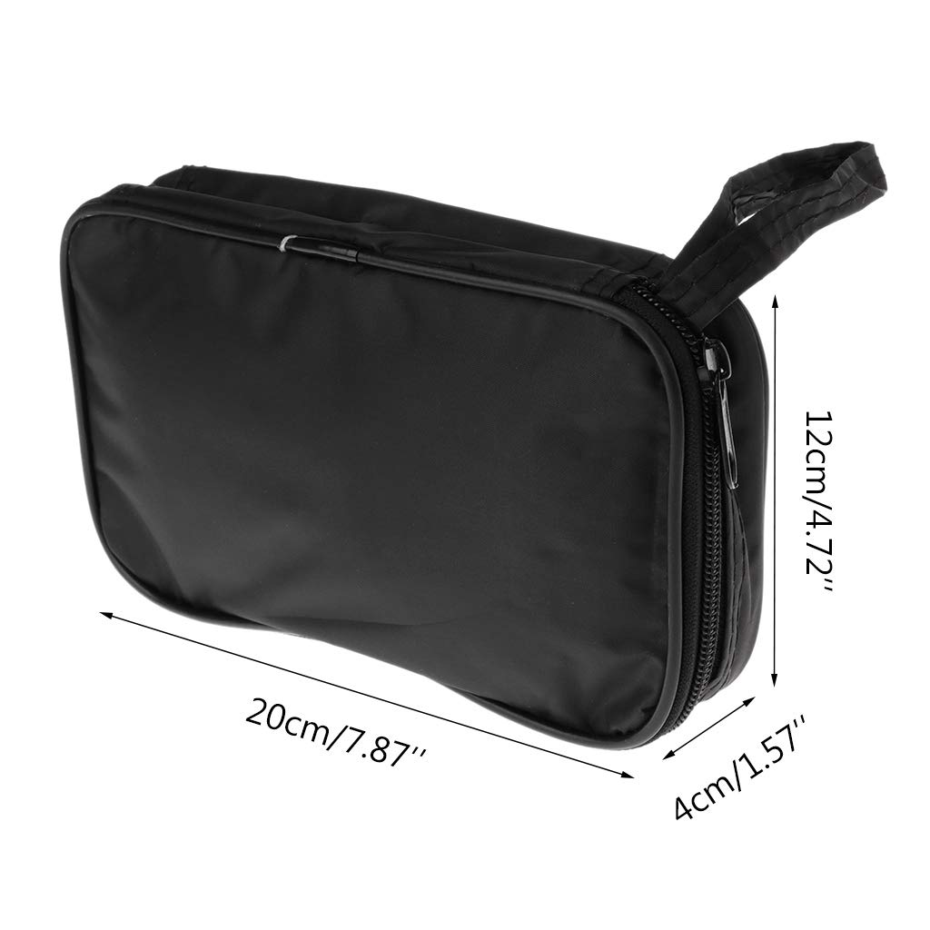 Exing Mult/ímetro Negro Colth Bag 20/* 12/* 4/cm UT Durable Waterproof Shockproof Soft Case