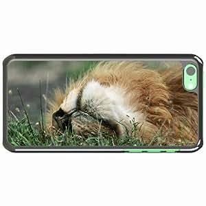 iPhone 5C Black Hardshell Case grass lie Desin Images Protector Back Cover