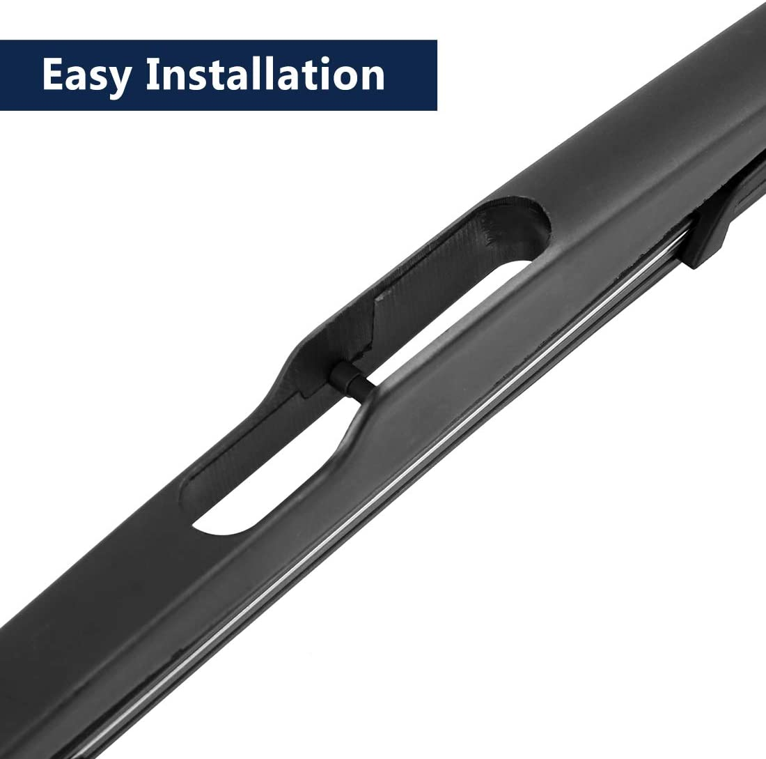 X AUTOHAUX Car Rear Windshield Wiper Blade Arm Set Black 355mm 14 Inch Fit for Dacia Duster 08 09 10 11 12 13 14 15 16 17 18 19