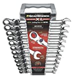 GearWrench 85698 12 Piece XL Locking Flex-Head Ratcheting Combination Wrench Set Metric