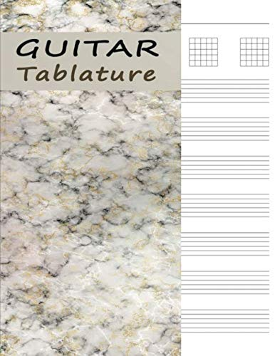 - Guitar Tab Book: Notebook of Tablature Paper for Composing Music - Golden Marble (Guitar Music Sheets)