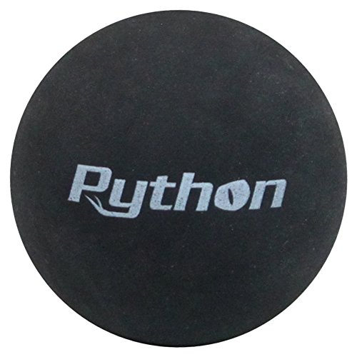 Python Black Racquetballs (Value Pack 12 Ball Jug/Long Rally Ball!)