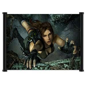 Tomb Raider Lara Croft y la Guardian de luz de pared Póster de desplazamiento juego de Tela (63,5 cm x 40,64 cm) pulgada{0}