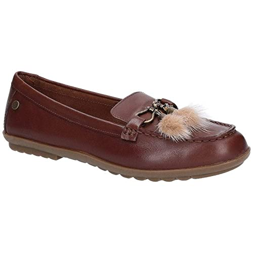 Hush Puppies AIDI Puff Loafer, Mocasines para Mujer, (Brown 000), 36