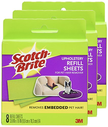 051111026700 - Scotch-Brite Upholstery Pet Hair Remover Refills, 8 Refill Sheets (849RF-8SB) carousel main 1