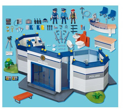 Playmobil police headquarters buy online in uae toys and games products in the uae see - Caserne de police playmobil ...