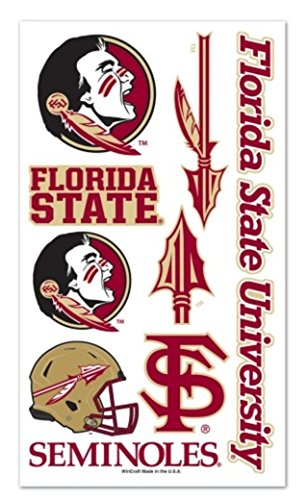 (WinCraft NCAA Officially licensed Florida State University Seminoles Temporary Tattoo Package)