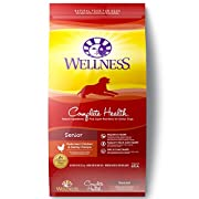 Wellness Complete Health Natural Dry Dog Food, Senior Health Recipe, is healthy, natural dog food for senior dogs made with carefully chosen, authentic ingredients for everyday health and provides whole-body nutritional support and promotes overall f...