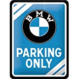 """BMW Parking Only Small Metal Sign  8"""" x 6"""""""