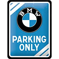 Nostalgic Art BMW Parking Only small metal sign 200mm x 150mm (na)