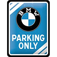 Nostalgic-Art 26177 BMW - Parking Only Blue, Blechschild 15x20 cm