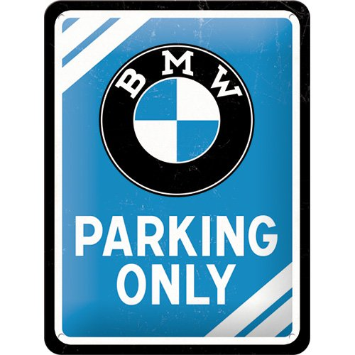 Amazoncom BMW Parking Only Small Metal Sign X Automotive - Bmw parking only signs