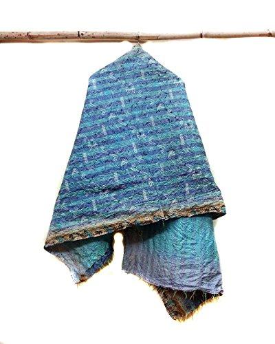 Silk Kantha Scarf Neck Wrap Stole Dupatta headband Collar Neckerchief Scarves