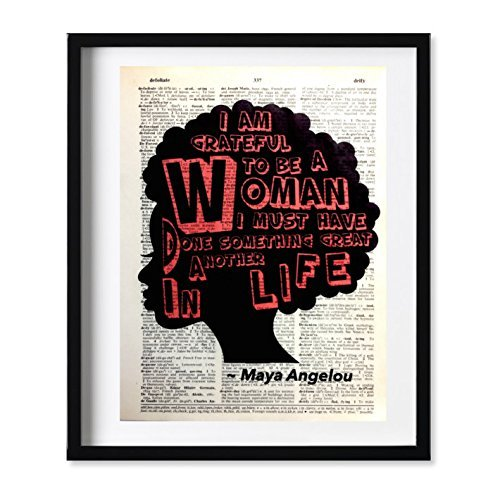Dictionary Art Print - Maya Angelou Inspirational Woman Quote