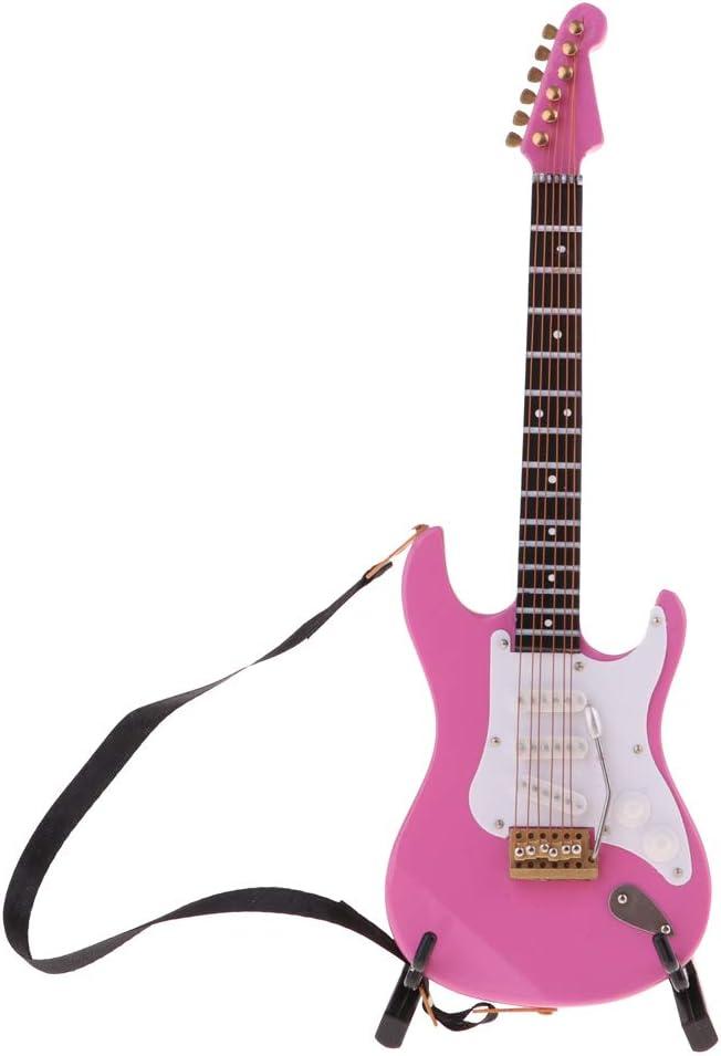 Amazon.es: P Prettyia Modelo Réplica Mini Guitarra Eléctrica de 6 ...