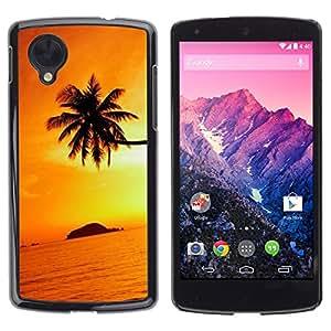 Design for Girls Plastic Cover Case FOR LG Nexus 5 D820 D821 Orange Sunset Black Gold Tropical Island OBBA