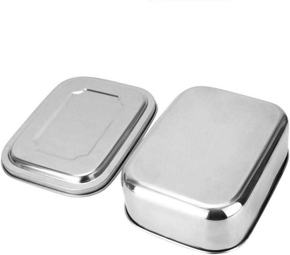 Bascar Fiambrera Acero Inoxidable, antigoteo, Fiambrera con Separador extraíble, Cajas Eco Bento de Metal, fácil de Limpiar, portátil, Resistente al Calor, Gran Capacidad