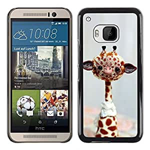 Impact Case Cover with Art Pattern Designs FOR HTC One M9 Funny Friendly Giraffe Betty shop
