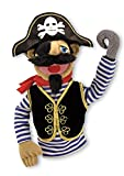 Melissa & Doug Pirate Puppet With Detachable Wooden Rod for Animated Gestures