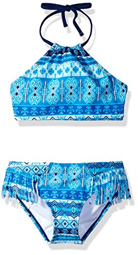 Kanu Surf Big Girls' Mahina Beach Sport Halter Bikini 2-Piece Swimsuit, Blue, - Suit Girls Bathing Piece 2