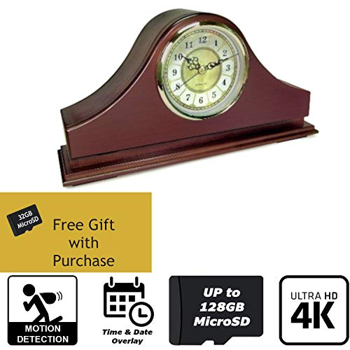 - SPY Gadgets | 4K Hidden Camera Spy Camera Home Surveillance Nanny Cam DVR Mantel Clock | Zone Shield HD 2160P Hidden Video Camera with Motion Activation or Constant Record