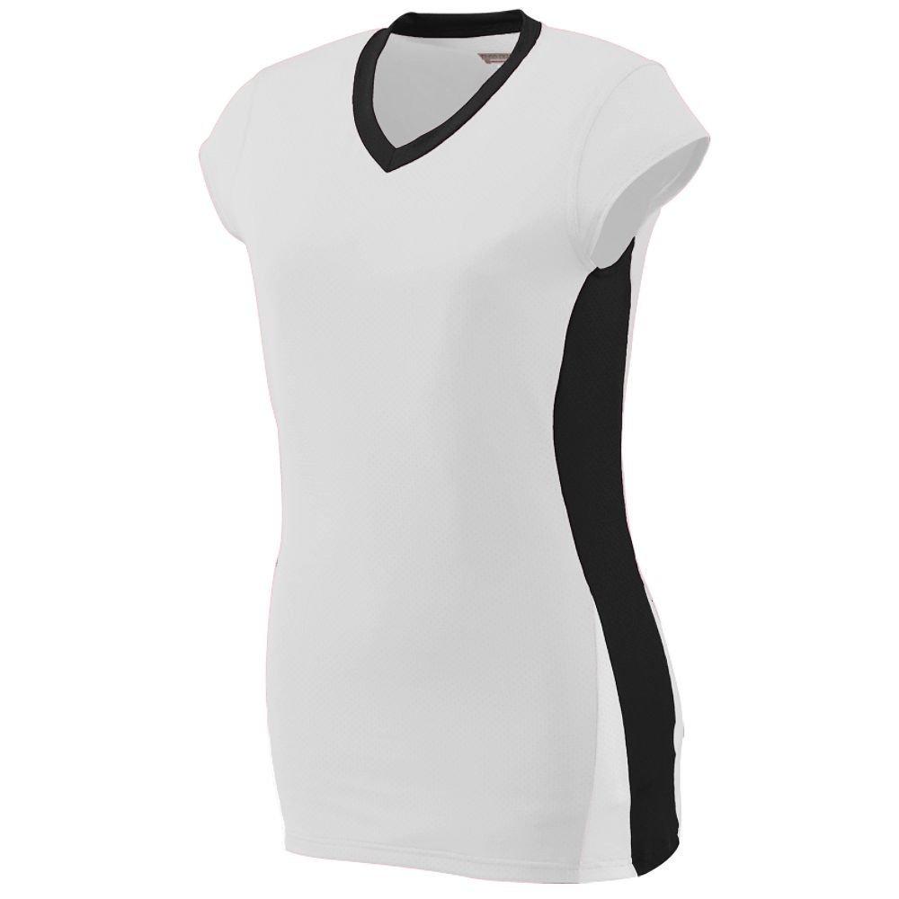 Augusta Sportswearレディースヒットジャージー B00HJTOUPG Small|ホワイト/ブラック/ホワイト ホワイト/ブラック/ホワイト Small