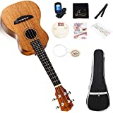 "Ukulele 21"" Soprano Beginner Set with Gig Bag, Tuner, Finger Sticker, Chord Card, CD-video Lessons, Extra Strings & Polish Cloth"