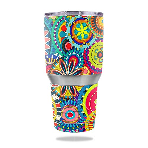 - MightySkins Skin for Ozark Trail 30 oz Tumbler - Flower Wheels | Protective, Durable, and Unique Vinyl Decal wrap Cover | Easy to Apply, Remove, and Change Styles | Made in The USA