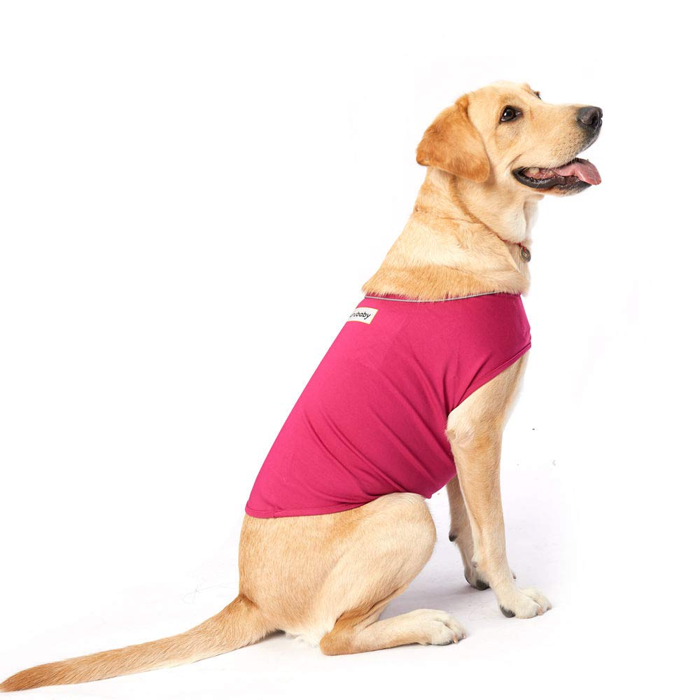 Furubaby Anxiety Dog Coat a Shirt Calm Down Dog Jacket for xs Small Medium Large XL Dogs | Solid Color Blue Gray Green Pink Thunder Dog Wrap Vest(Purple Red) (M)