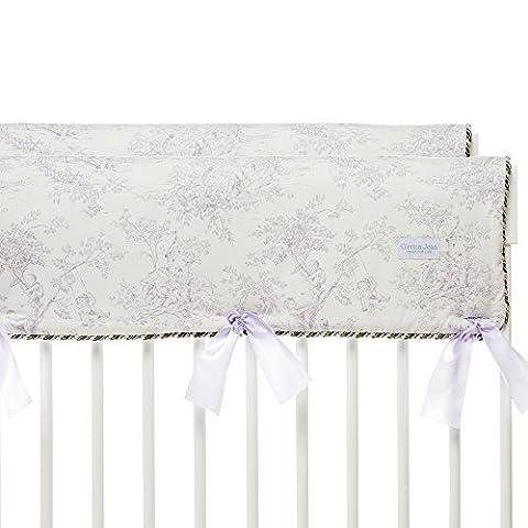 Glenna Jean Penelope Crib Rail Protector, Lavender/Mint/White, Short - Glenna Jean Baby Crib