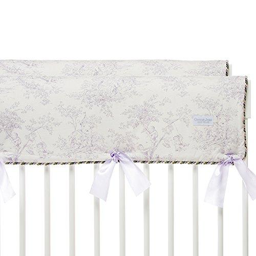 Glenna Jean Penelope Crib Rail Protector, Lavender/Mint/White, Short