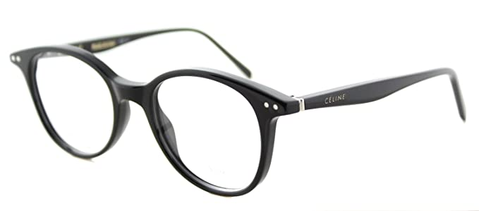 3436f2e6c3 Image Unavailable. Image not available for. Color  Celine Plastic Round  Eyeglasses 47 0807 Black