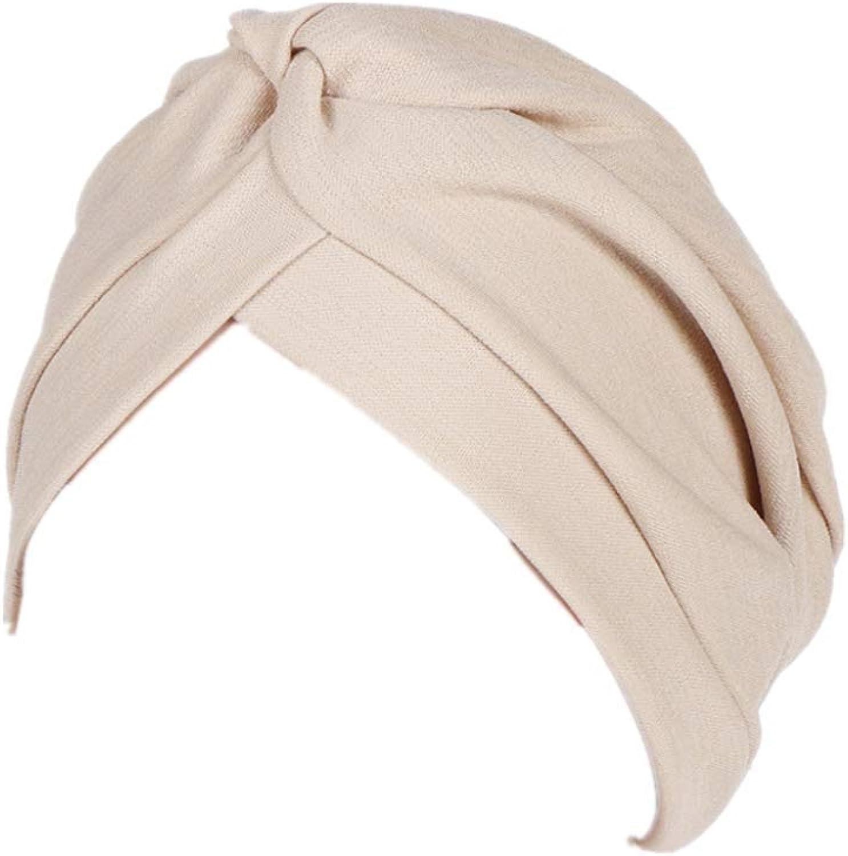 HZUX Fashion Hijabs for Women Muslim Soft Head Headwear India Hat Cancer Chemo Turban Wrap Scarf Cap