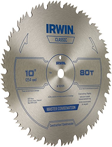 Irwin tools steel table miter circular saw blade 10 for 10 inch table saw blade reviews