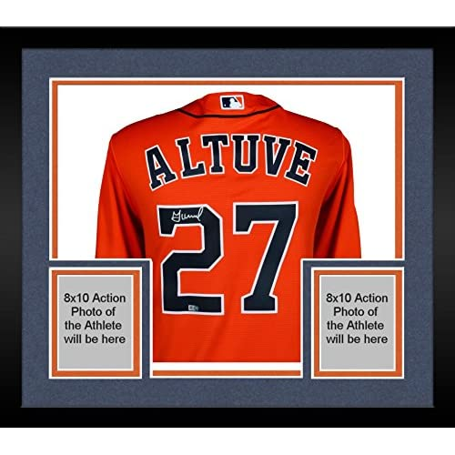 new product 7fc8b 53e47 Framed Jose Altuve Houston Astros 2017 MLB World Series ...
