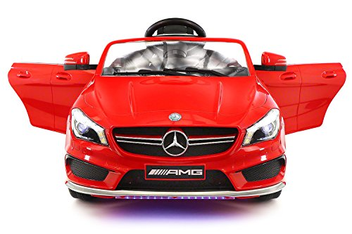 2017 Mercedes AMG 12V Power Ride on Toy Car w/ Remote Control, Leather Seat, Openable Doors, 2 Speeds