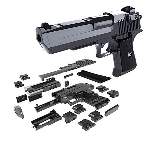 AurelionX DIY Gun Building Blocks Toy Desert Eagle Assembly Toy Brain Game Model with Instruction Book