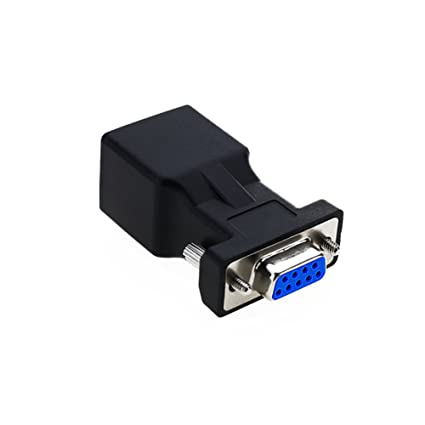 amazon com lfhukeji rj45 to rs232,db9 9 pin serial port female toamazon com lfhukeji rj45 to rs232,db9 9 pin serial port female to rj45 female cat5e 6 ethernet lan extend adapter computers \u0026 accessories