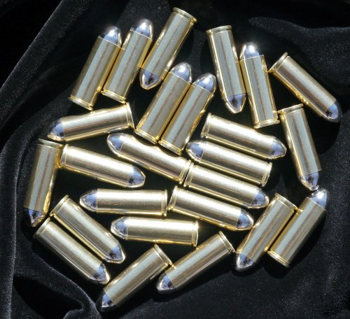 25 gun revolver dummy ammo cartridge rounds exact scale 45 caliber