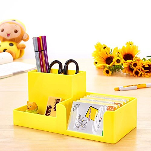 ABS Desk Supplies Organizer Caddy Yellow Photo #2