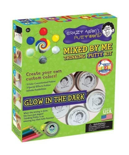 Crazy Aaron's Mixed by Me Glow in the Dark Make Your Own Thinking Putty