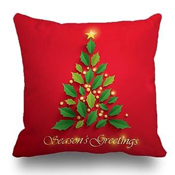Amazon.com: Fundas de almohada de Navidad de Batmerry, 18.0 ...