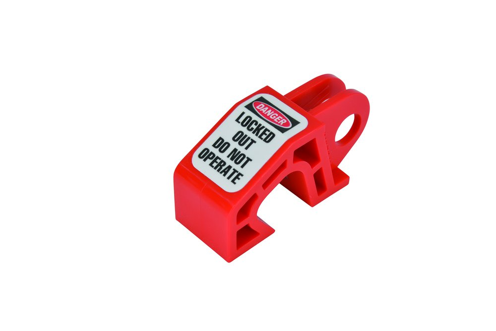 Oberon CB-SINGLE-6 Single Pole Circuit Breaker Lockout, Red (Pack of 6) by Oberon Company