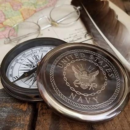 Amazon com : United States Navy Logo Compass : Sports & Outdoors